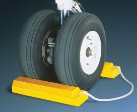 Checkers AC3512-RP-S Aircraft Wheel Chocks - 12 Inch With Rubber Base - Single Chock Only