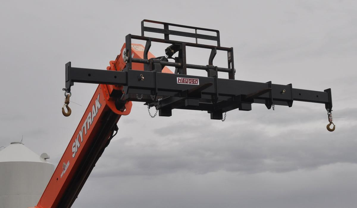 Forklift Spreader Bar - 12 Foot Shown Without Center Hook - For reference only