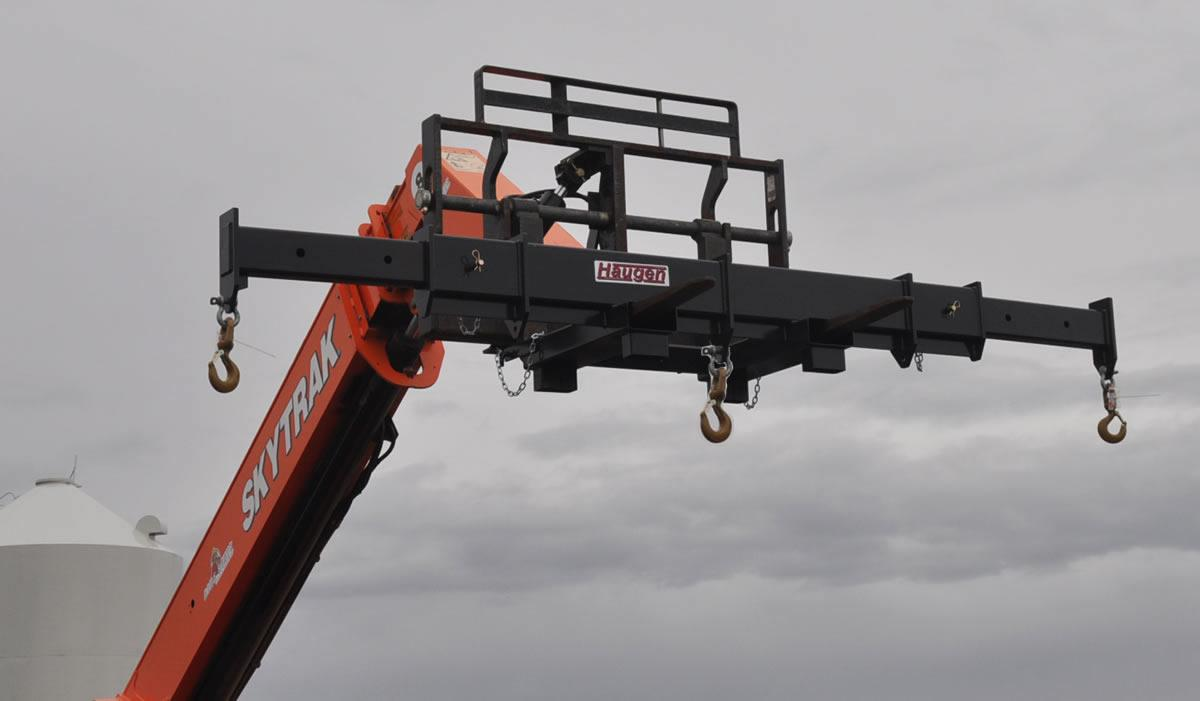 Forklift Spreader Bar With Center Hook - 10000 Lb Capacity - Haugen MASPR-812