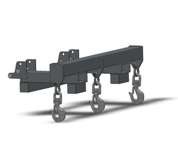 Forklift Spreader Bar With Center Lift Hook - 8000 Lb Capacity - SI-1150C