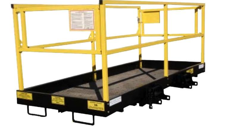 Forklift platform is rated for 1000 lb. capacity