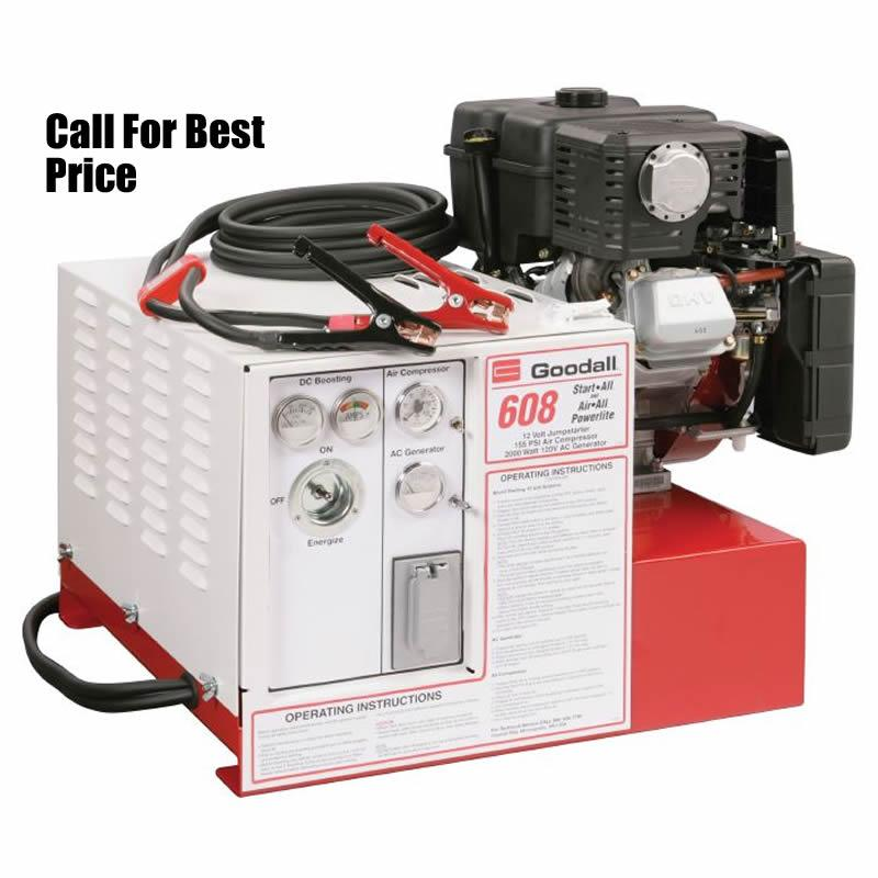 Goodall StartAll 11-608 Jump Starter With 13 CFM Air Compressor and 2750 Watt AC Generator