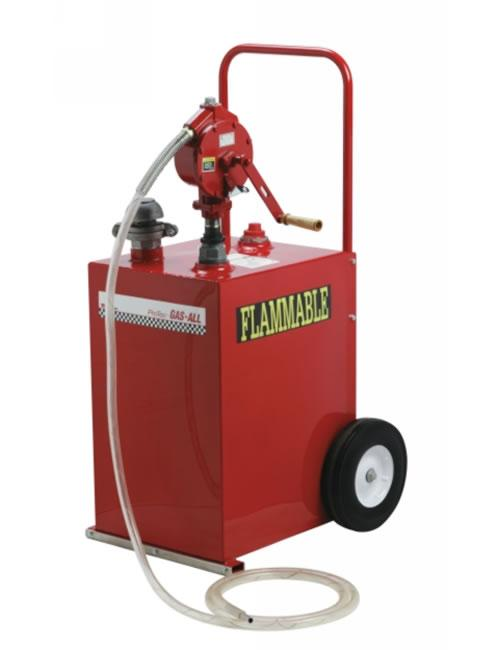 The Goodall 53-526 - 25 Gallon ProTec Gas-All Fuel Transfer and Storage Unit is excellent for shops, car lots, salvage yards and rental outlets.