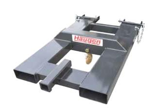Fork Mounted Swivel Hook With Receiver Hitch - Haugen MFSH-6TS