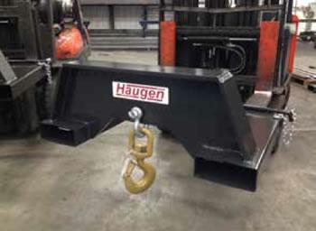 Extra Heavy Duty Fork Mounted Swivel Hooks for Large Forklifts and Wheel Loaders