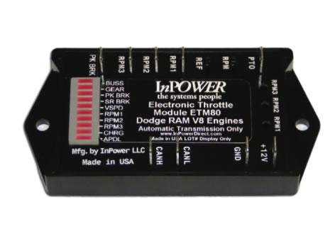 InPower ETM80 Fast Idle Electronic Throttle Speed Control For Dodge Trucks