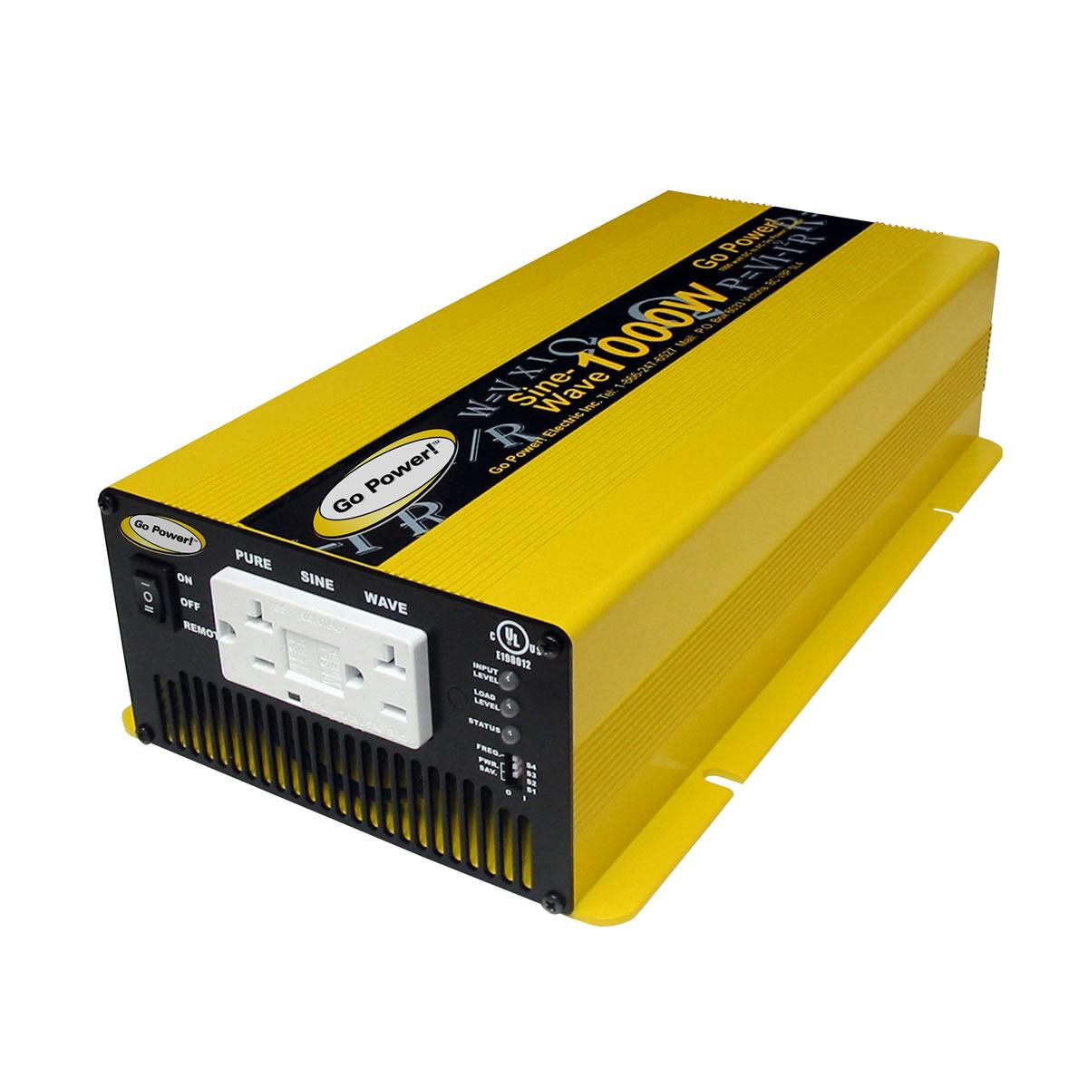 Go Power GP-SW1000 12 Volt 1000 Watt Pure Sine Wave Inverter