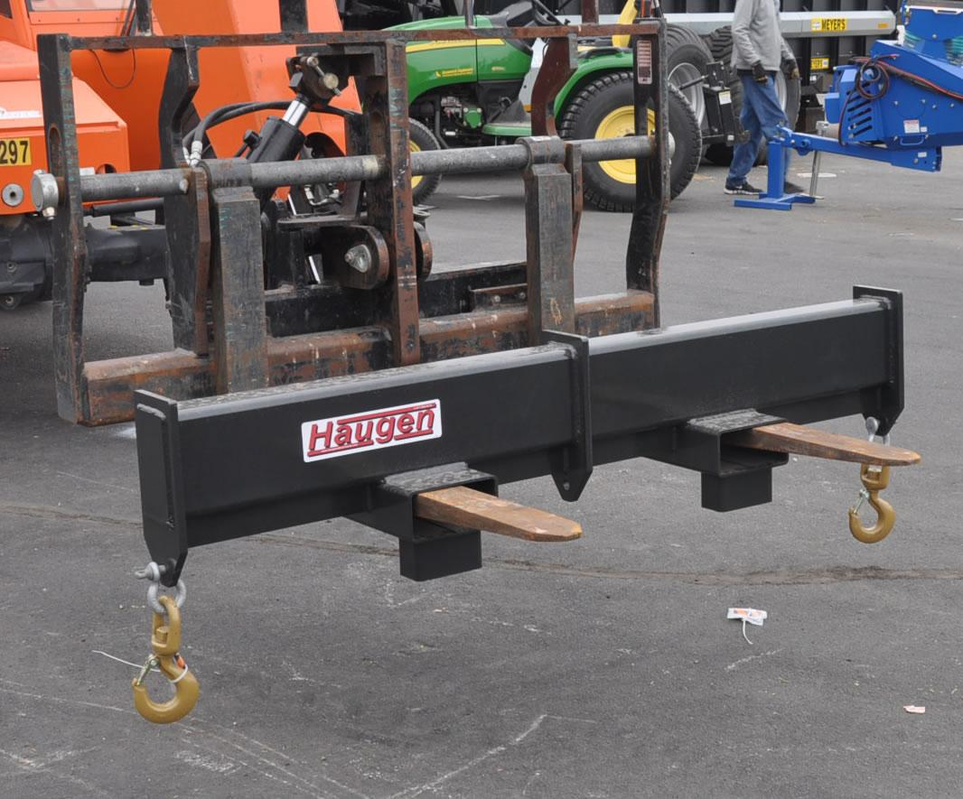 Forklift Spreader Bar - 10000 Lb Capacity - Haugen MSPR-72 - Shown WITHOUT Center Lift Hook