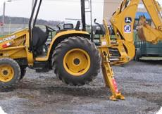 Equipment Lock - Stabilizer Lock For Backhoes