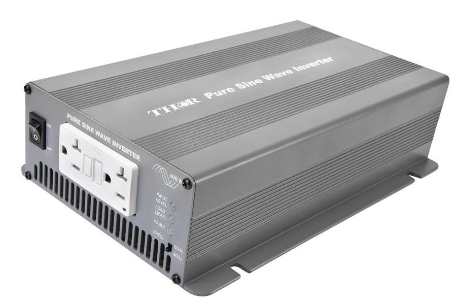 Thor THPS600R-12 Pure Sine Power Inverter - 600 Watts - 12 Volts