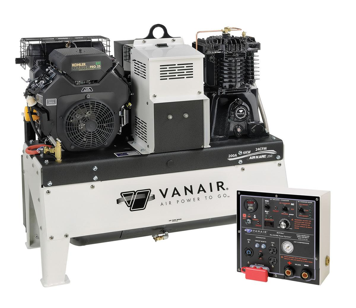 Vanair Air-N-Arc 250 - All-In-One Power System - 050817